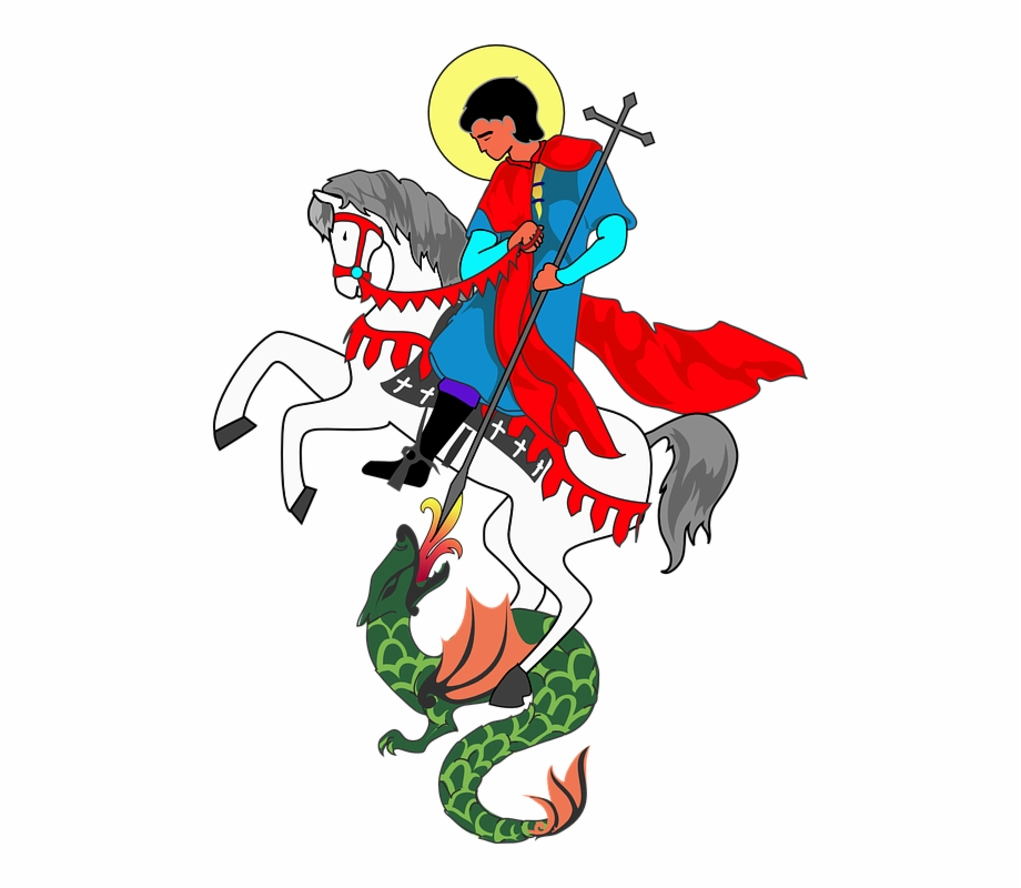 Dragon clipart st georges day. Saint george cross and