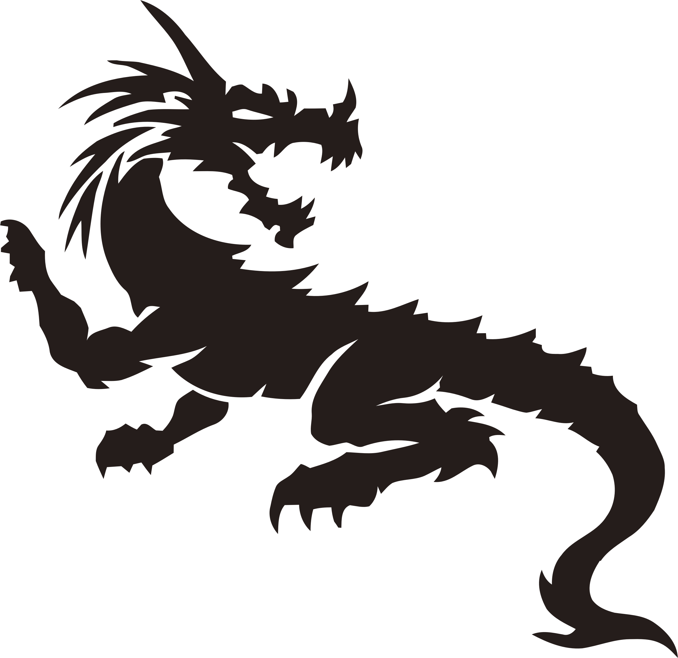 Icons png free and. Dragon clipart tribal dragon