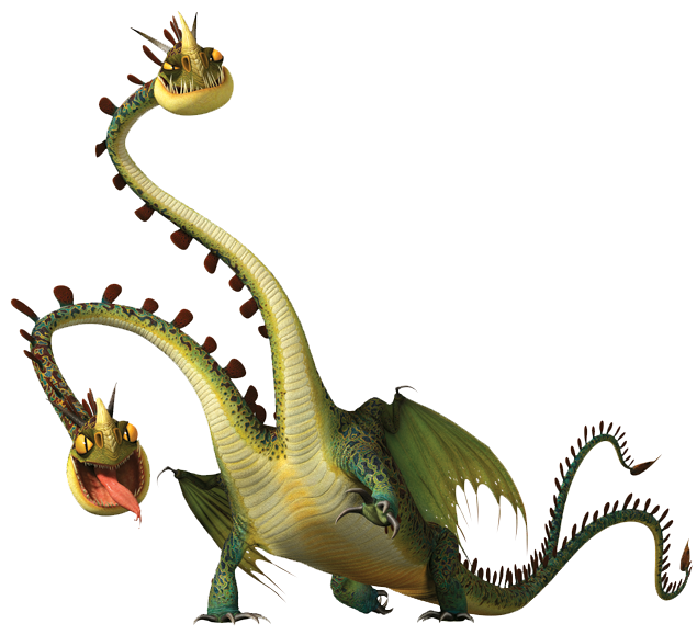 Dragon clipart two headed. Barf and belch how