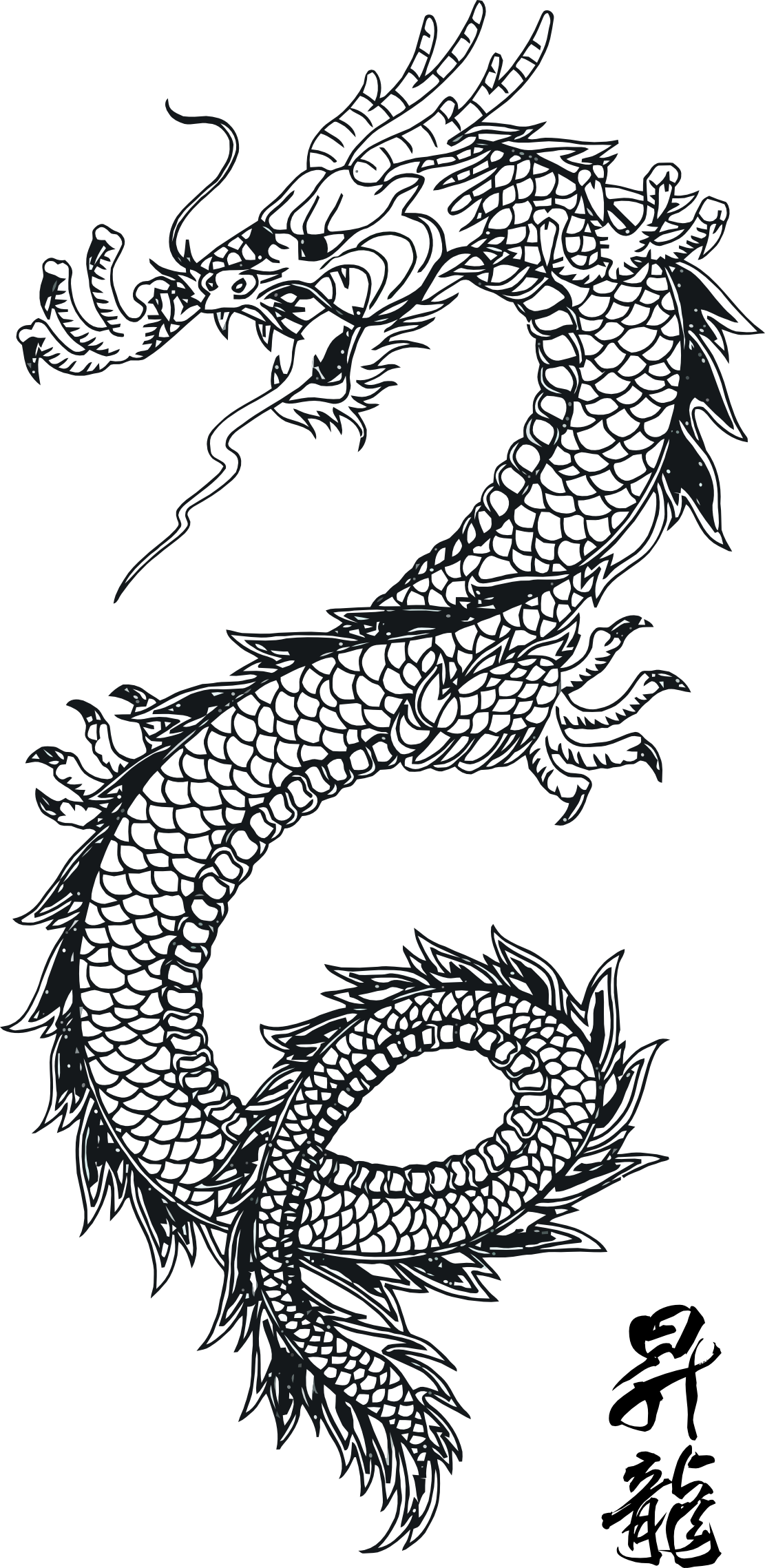 Dragon clipart vintage. Http colouringbook org svg