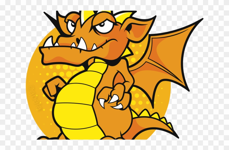 Dragon clipart yellow. Cover large e