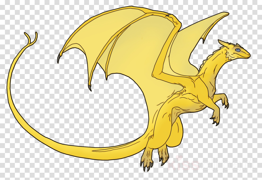 Cartoon transparent clip art. Dragon clipart yellow