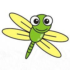 Cute cartoon free clip. Bug clipart dragonfly
