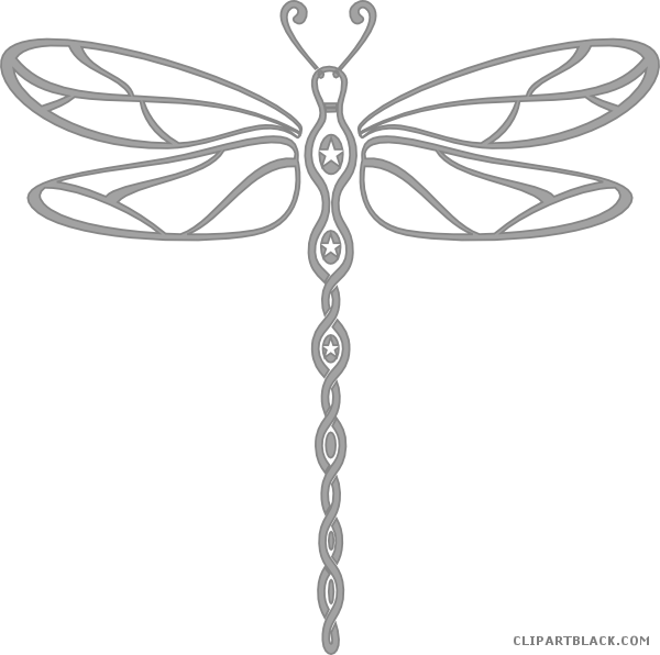 Dragonfly clipart black and white. Wonderful clipartblack com animal