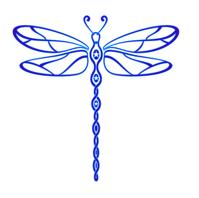 Free blue bclipart dinosaur. Dragonfly clipart black and white