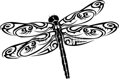 Dragonfly clipart black and white. Clip art