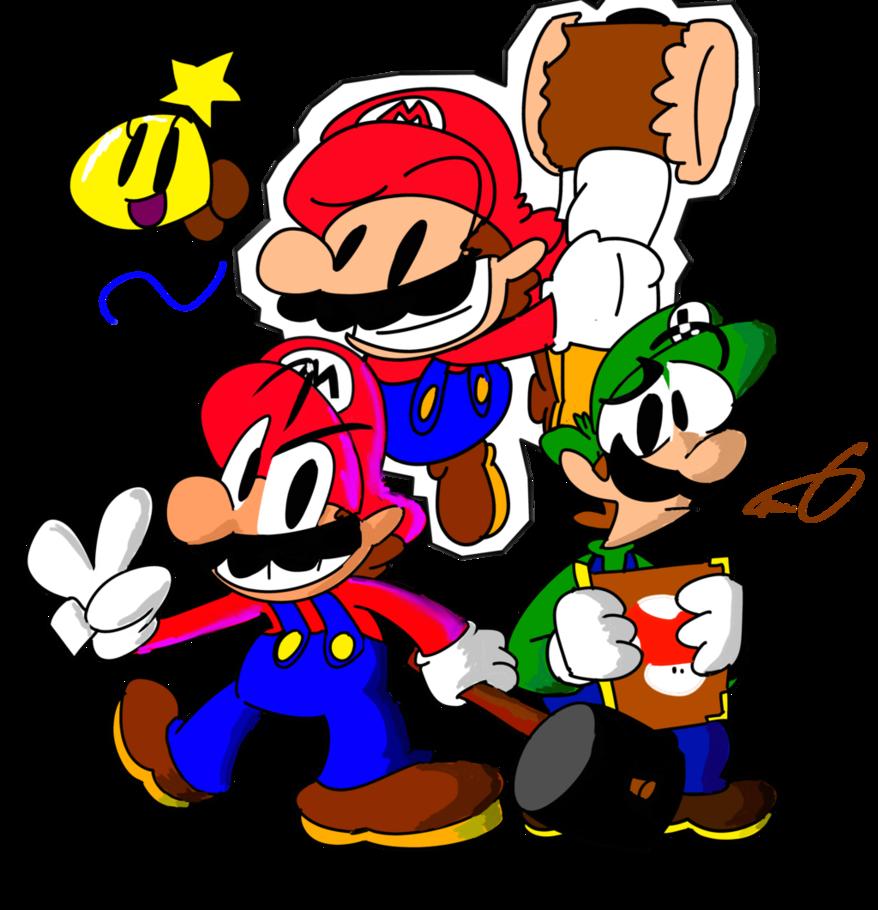 And luigi paper jam. Mario clipart sad
