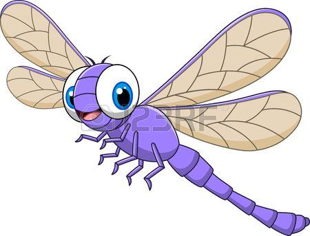 Stock vector sally su. Dragonfly clipart cartoon