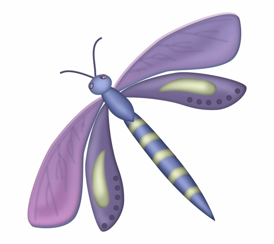 Cute cartoon animals purple. Dragonfly clipart colored