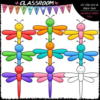 Dragonflies clip art b. Dragonfly clipart colorful dragonfly