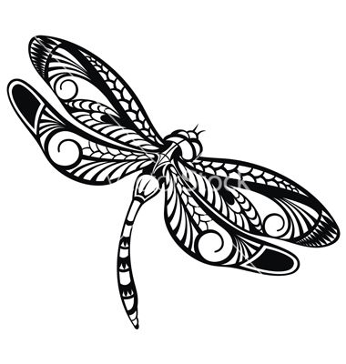 Dragonfly clipart dragonfly tattoo. Vector