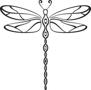 Dragonfly clipart dragonfly tattoo. Dtagonfly tattoos