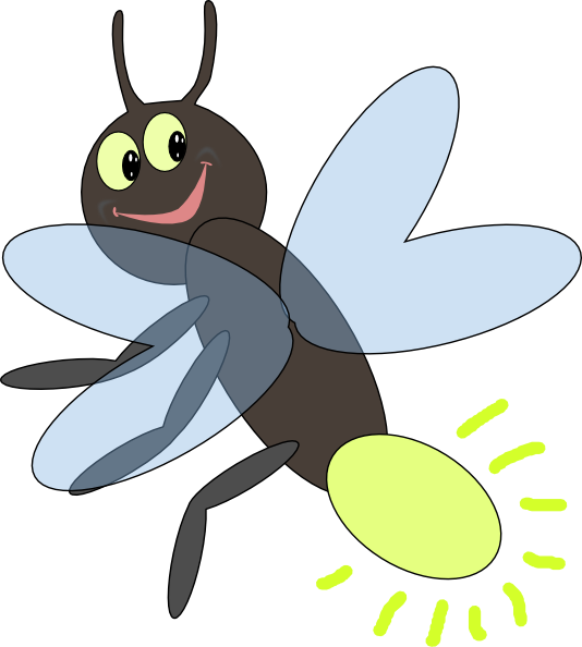 Firefly free . Fly clipart winged insect