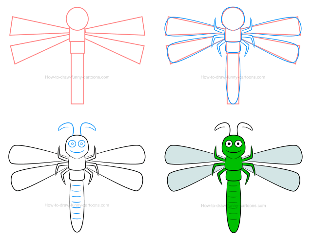 Dragonfly clipart kid. How to draw a