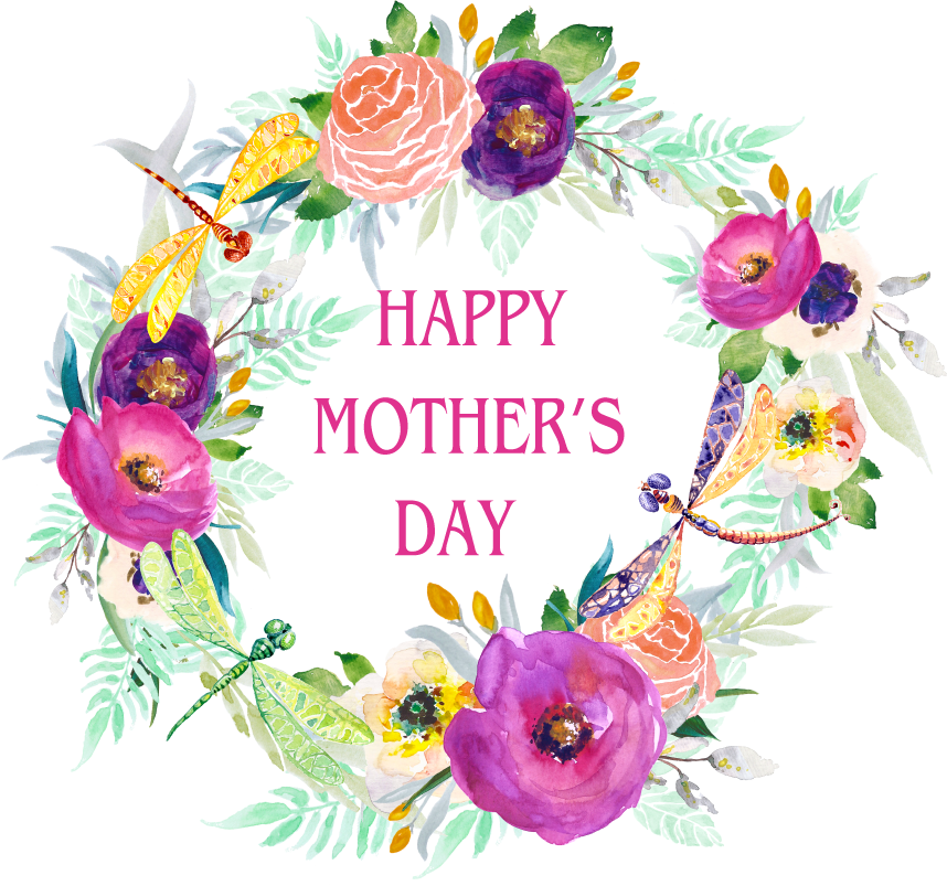 Happy png free . Dragonfly clipart mothers day