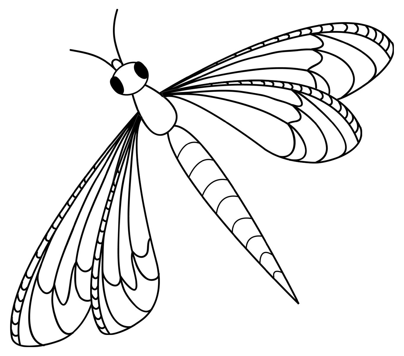 Dragonfly clipart printable. Free coloring pages for