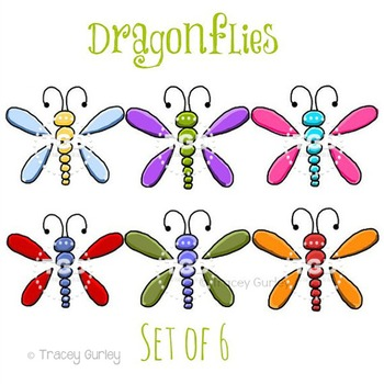 Dragonflies set of clip. Dragonfly clipart printable