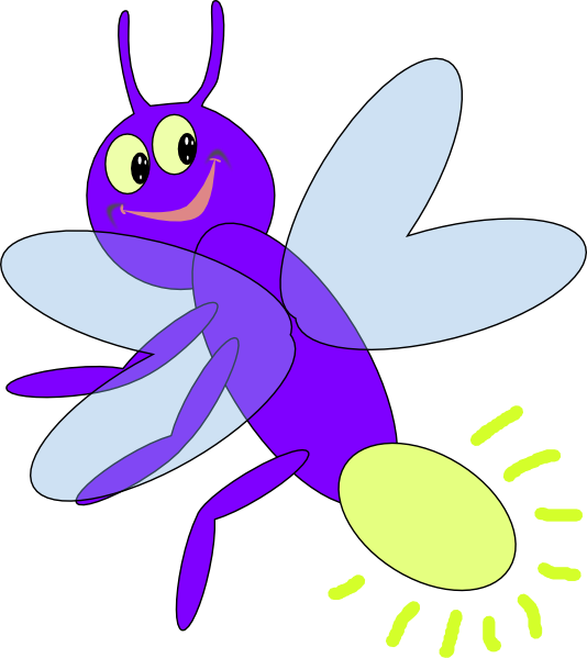 My firefly clip art. Insects clipart purple