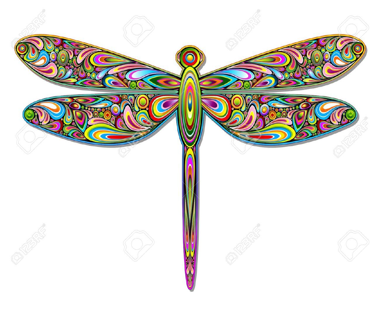 cliparts stock vector. Dragonfly clipart royalty free