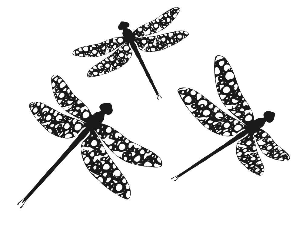 Silhouettes rooweb dragonflies flying. Dragonfly clipart shape