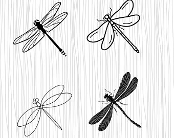 Shapes etsy . Dragonfly clipart shape