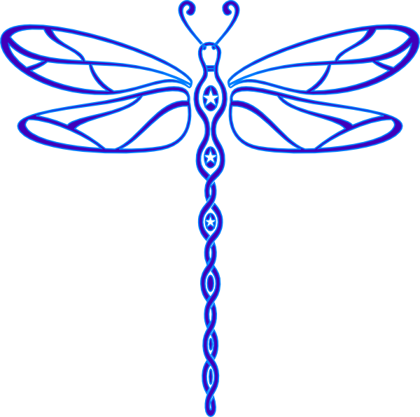 Outline dragonfly