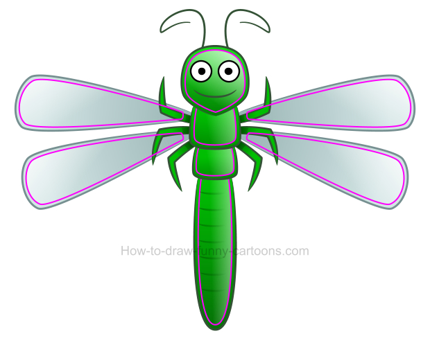 Dragonfly clipart small dragonfly. How to draw a