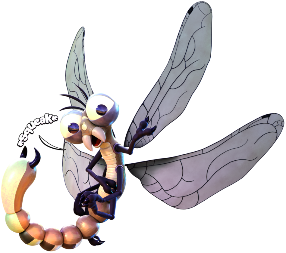 Mosquito clipart realistic. Commission danjim the dragonfly