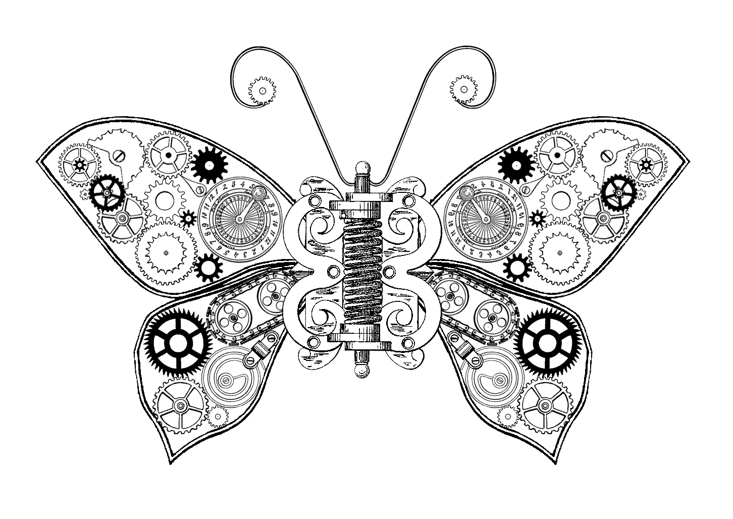 The sum of all. Dragonfly clipart steampunk