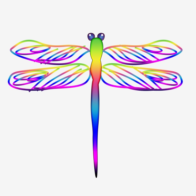 Color beginning of . Dragonfly clipart summer
