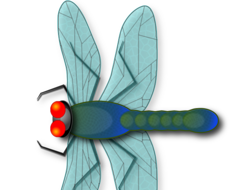 Dragonfly clipart teal. All things gimp tutorial