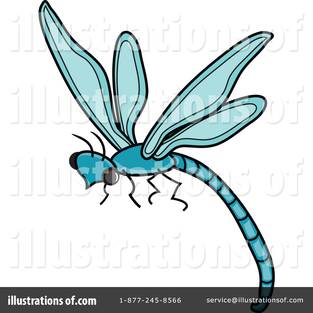 Dragonfly clipart teal. Illustration by pams