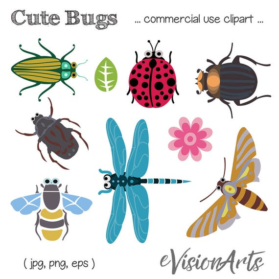 Dragonfly clipart two. Bug clip art insect