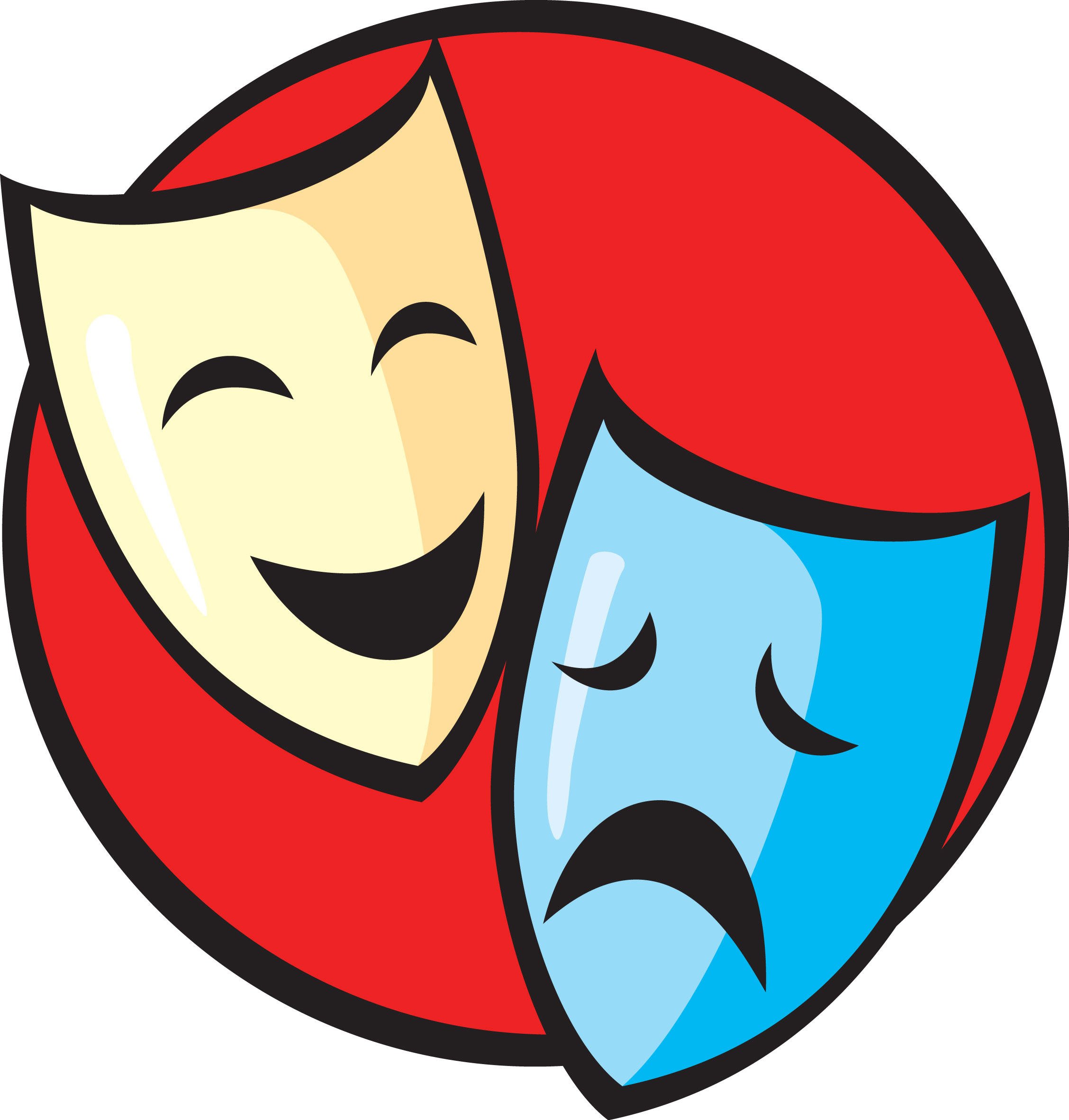 Drama clip art free. Poetry clipart theater