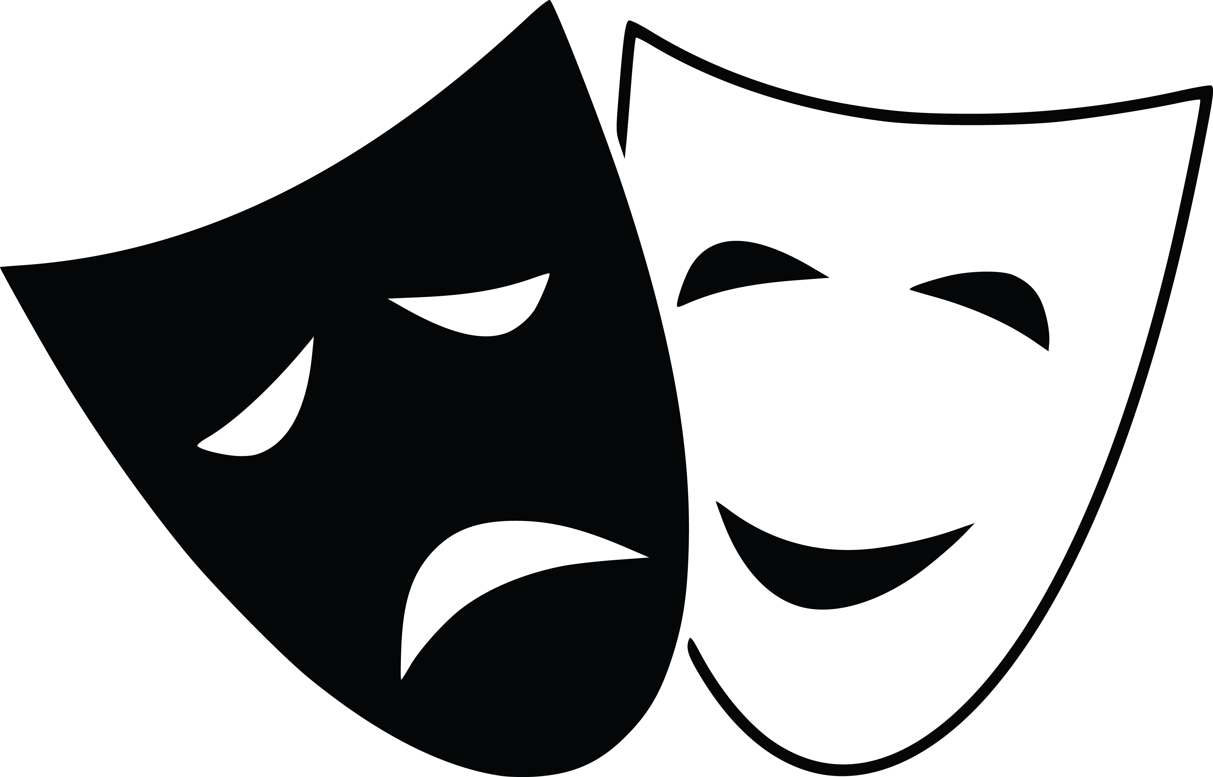 Drama clipart. Mask silhouette at getdrawings