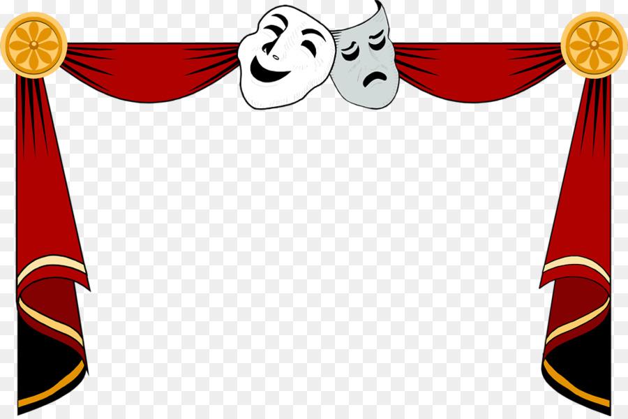 Cinema theatre theater drapes. Drama clipart