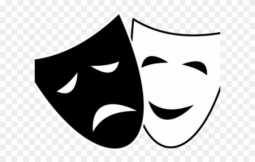 Mask clipart mood. Drama faces clip art