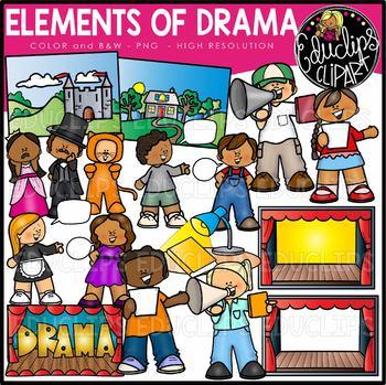 Elements of set educlips. Drama clipart clip art