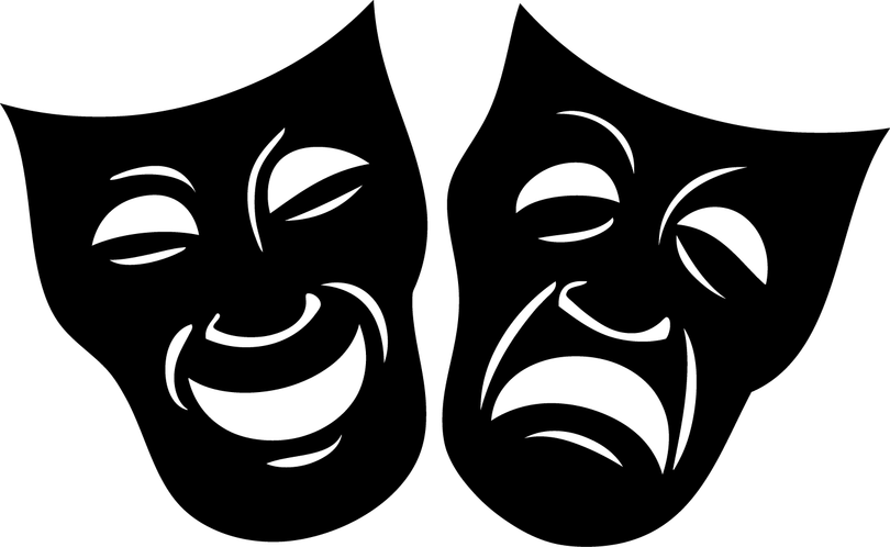 Mask clipart musical theatre. Drama the spotlight playhouse