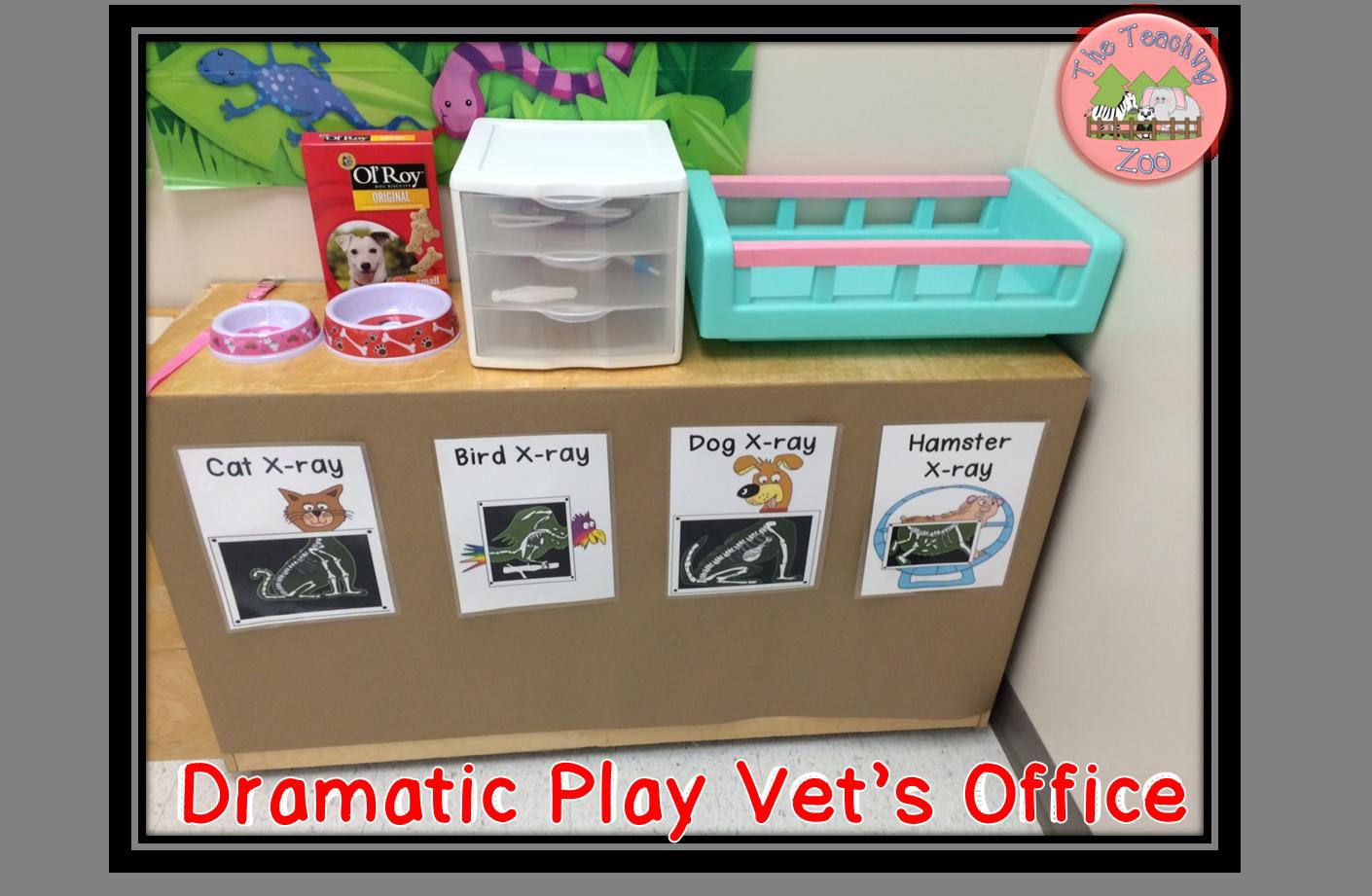 Dramatic play pet vet. Xray clipart preschool