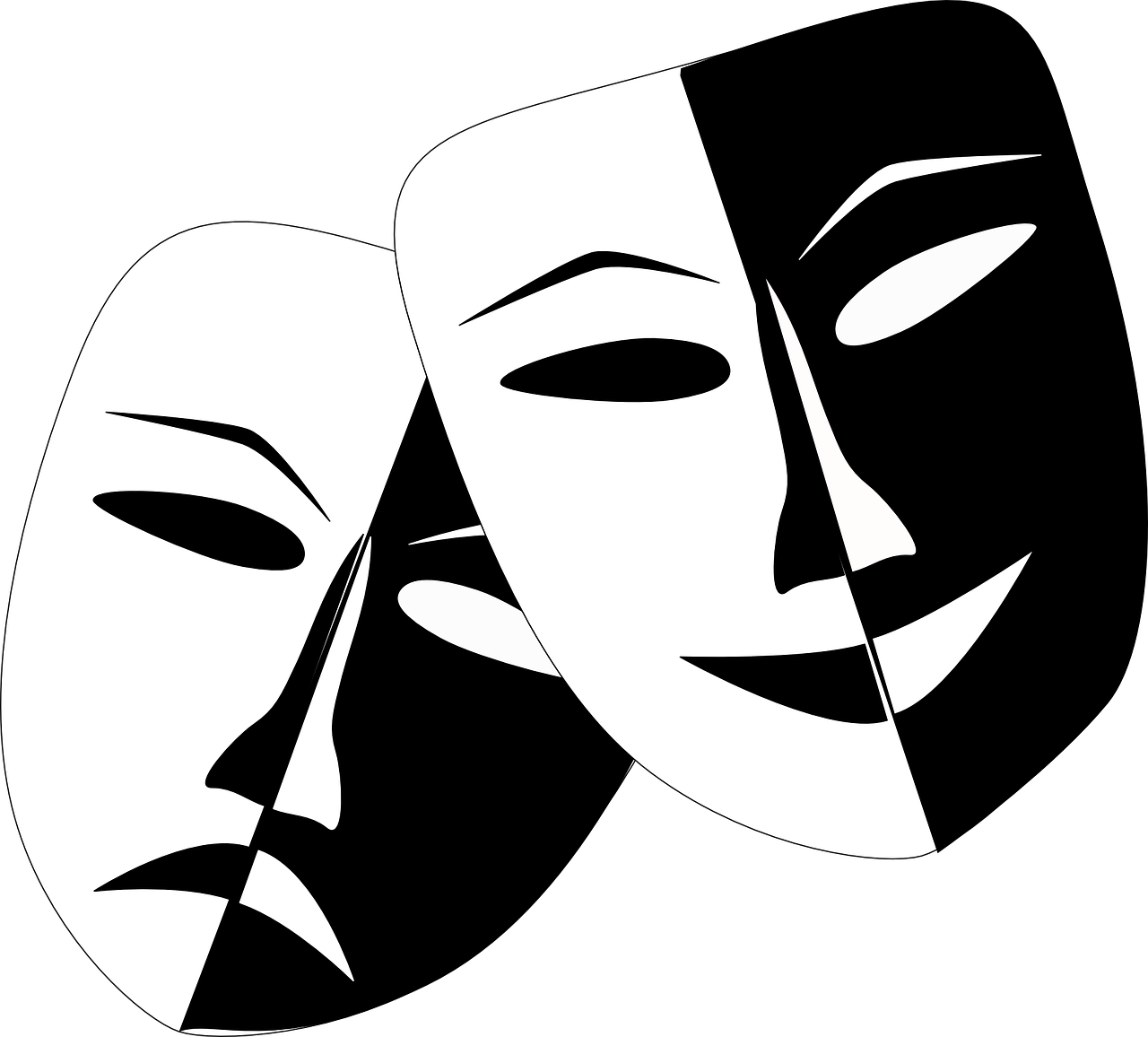 What is drama therapy. Mask clipart mood