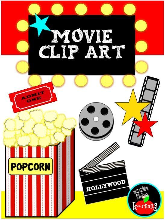 Free clip art movie. Hollywood clipart classroom