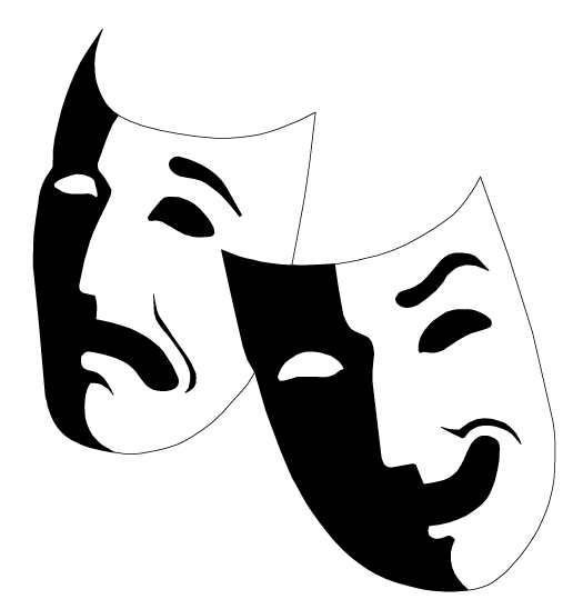 Mask clip art actor. Drama clipart musical theatre