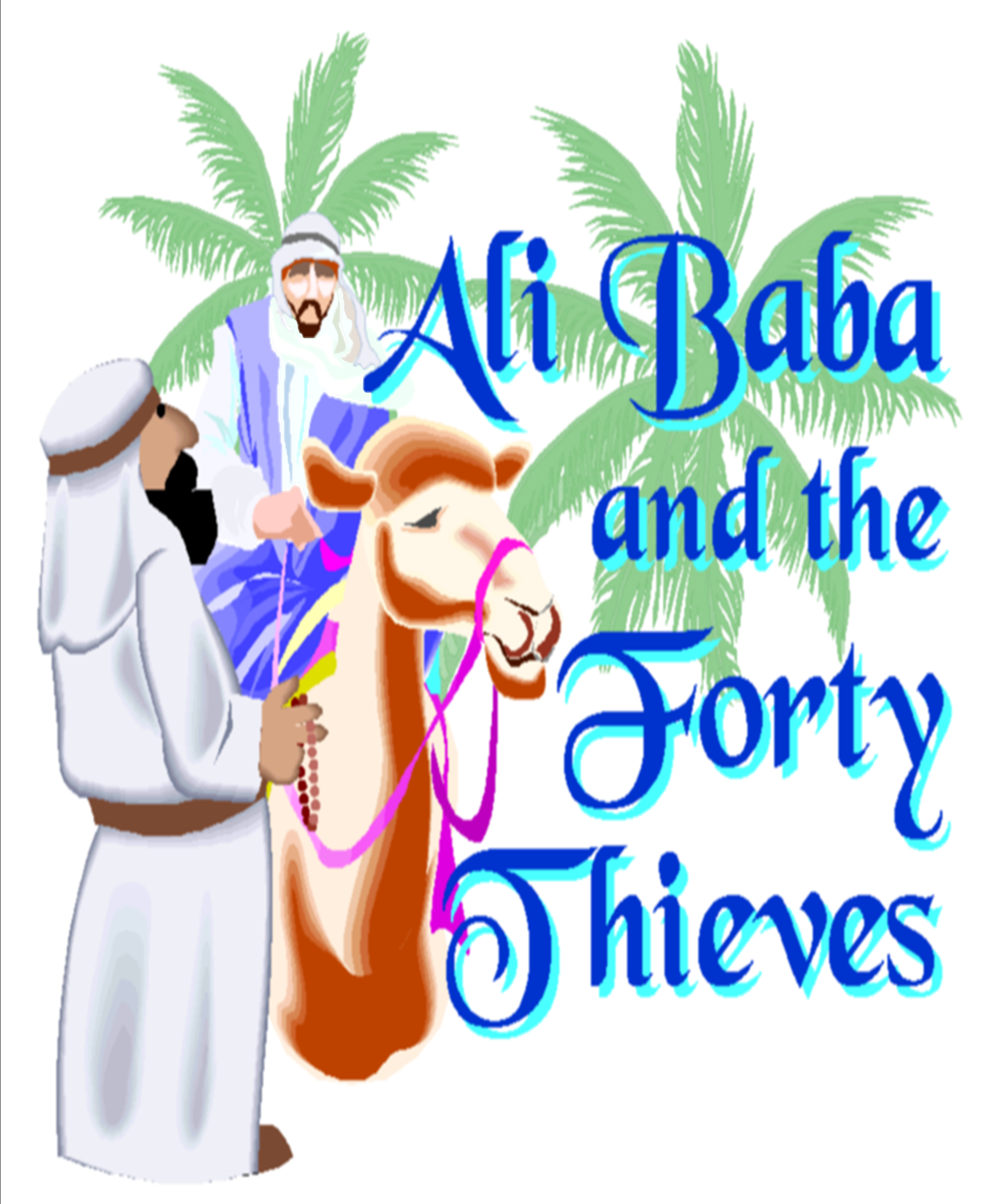 Drama clipart panto. Ali baba the forty