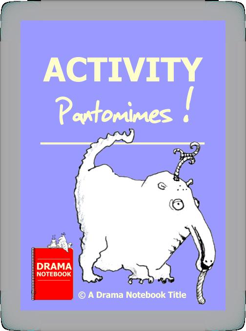 Drama clipart panto. Pantomime notebook activity pantomimes