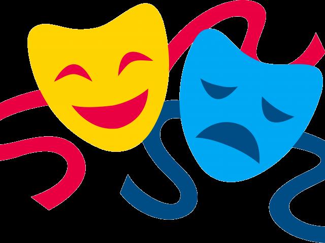Club clipart nukkad natak. Drama masks free download