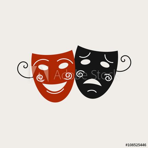 Logo with the image. Drama clipart school program