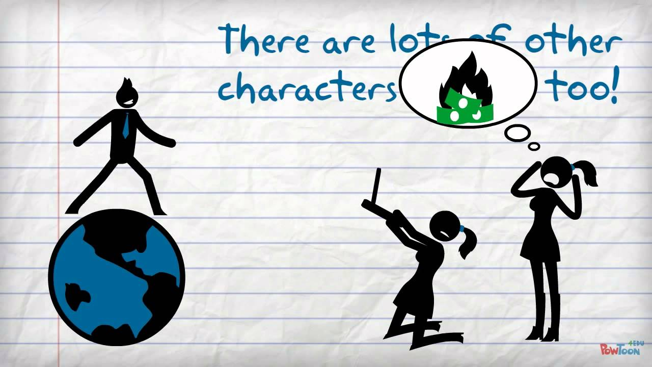Grade characterization through dialogue. Drama clipart stage direction