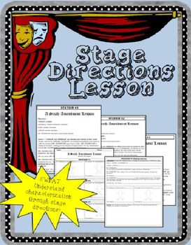 Drama clipart stage direction. Directions worksheets teaching resources