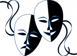 Theatre clipart drama scene. Vector transparent clip art